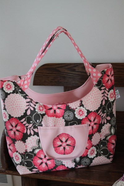 Colossal Bag in Pink floral(small)