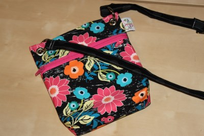 Mini Messenger in Jungle Ave. pink zip