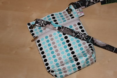 Mini Messenger in Blue Dots