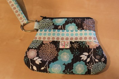 Out n About Wristlet in Andrea Victoria Blue Main