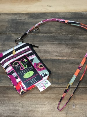 I.D. Lanyard in spices fusion black zip