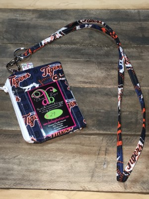 I.D. Lanyard in Tigers white zip