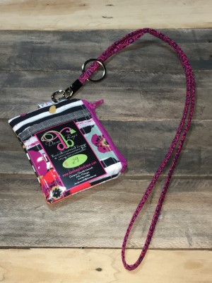 I.D. Lanyard in spices fusion fuschia zip