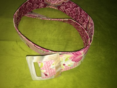 Belt in Pink with Fuschia