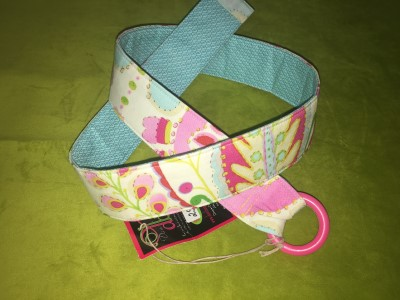 Belt with Blue and Pink