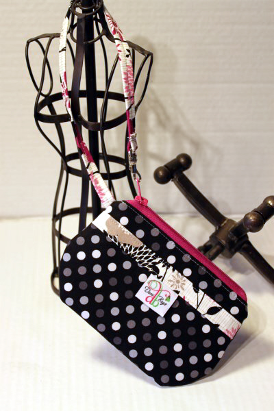 Wristlet in Black Dots