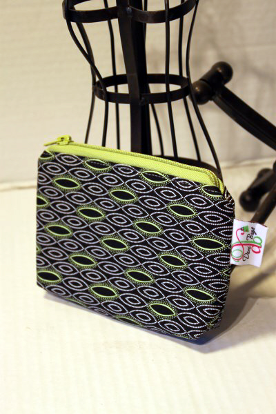 Zippered Pouch in Mojito