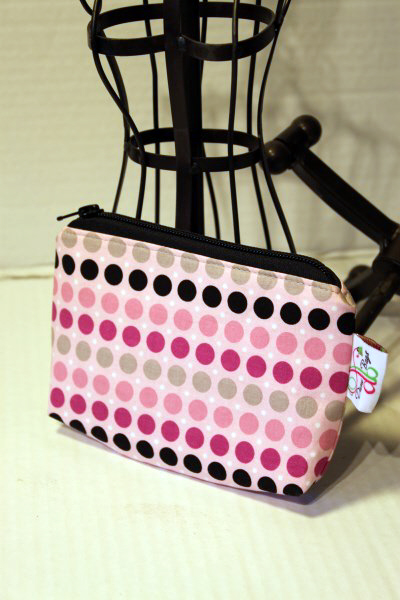 Zippered Pouch in Andrea Victoria Dots