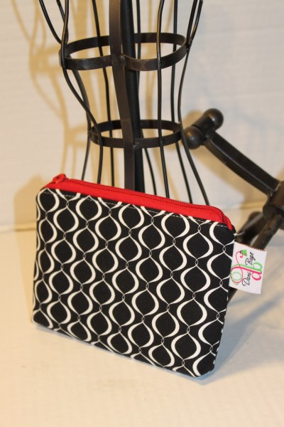 Zippered Pouch in Black