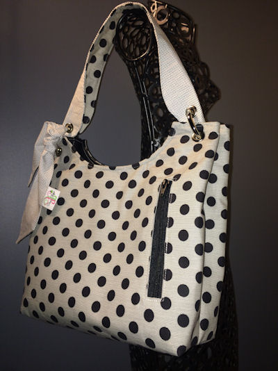 Sachet Bag in Mama said Sew Dots