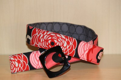 Reversible Belt in Mocca and Grey Mirror