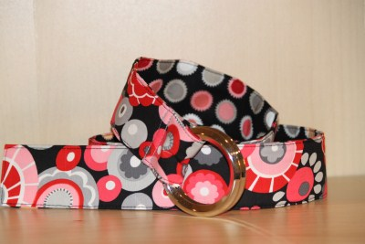 Reversible Belt in Olympia and Dots