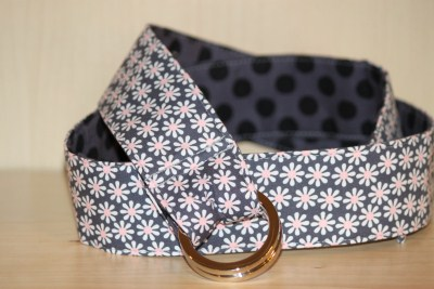 Reversible Belt in Daisy Flowers