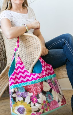 Surf Bag in Chevron and Floral