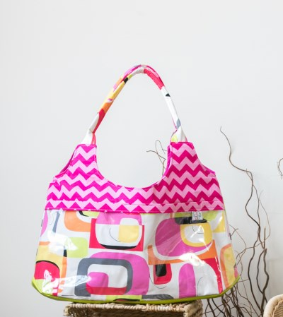 Surf Bag in Pink Chevron