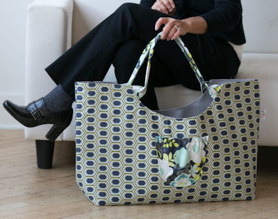 Colossal Bag in Stenciled Retro